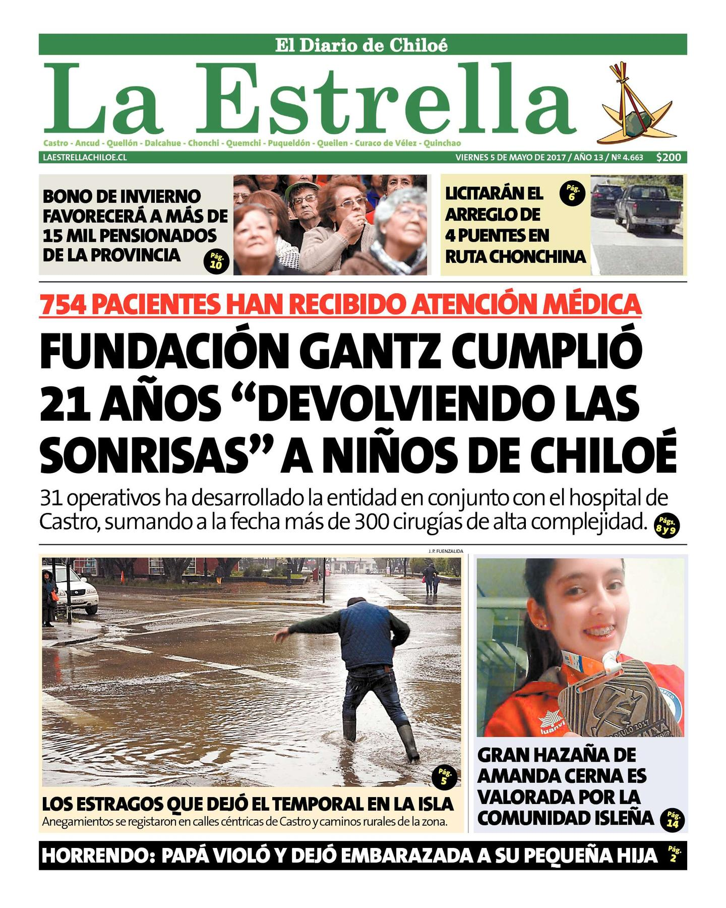 """Fundación Gantz, dirigida por Dr. Carlos Giugliano, cumplió 21 años """"devolviendo las sonrisas"""" a niños de Chiloé"""