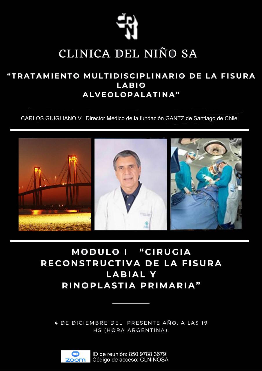 """Curso internacional online """"Tratamiento Multidisciplinario de la Fisura Labiopalatina"""""""